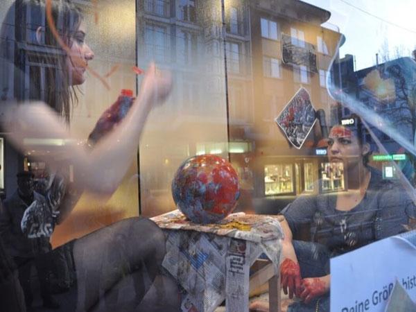 SALON Witten im März 2017 - Aktion im Schaufenster