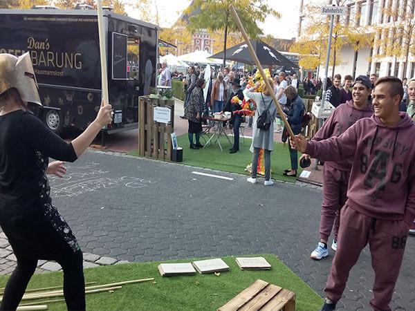 Die SCHULE der Sozialen Kunst präsentierte sich am 24. September auf der PicnicArt 2017 im Quartier KreativeMitte in Hamm